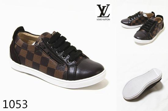 LV kid sneakers fashion shoes