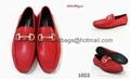 red business shoes men leather shoes Ferragamo shoes