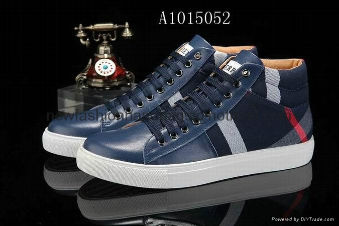blue burberry sneakers