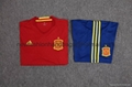 spain team red jerseys soccers