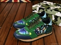 Valentino Camouflage Sneaker  camo sneakers men flat shoes casual shoes