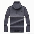 2017 long t shirt men BOSS long lapel T man M-3XL