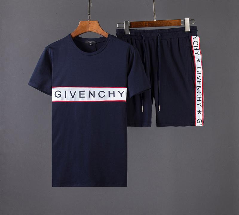 blue givenchy shorts pants t shirt
