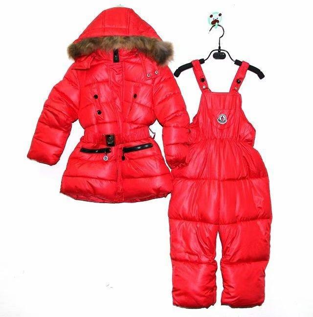 red moncler suits girl coat body pants