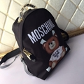 Moschino Couture Quilted Nylon Logo Runway Designer Backpack Toy Bear Backpack