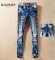 100%Auth New Fashion Balmain Amiri jeans pants matelasse graffiti-art