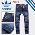 Wholesale suit top quality Adidas Pure cotton trousers Adidas pants men clothes
