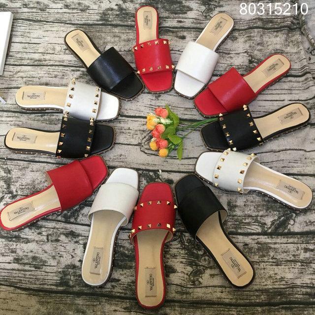 women shoes Studded Sandal Slippers           Rockstud Flats  10