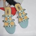 women shoes Studded Sandal Slippers           Rockstud Flats  12