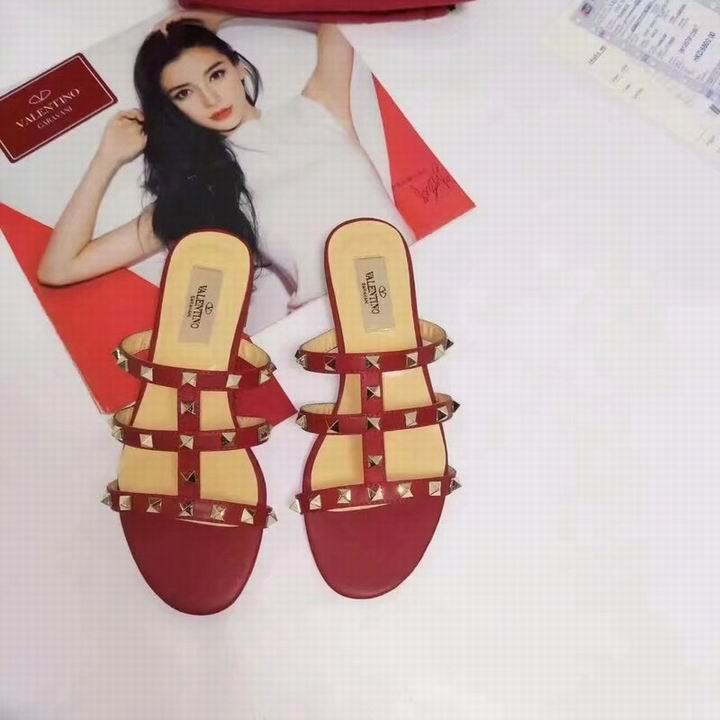 women shoes Studded Sandal Slippers           Rockstud Flats  13