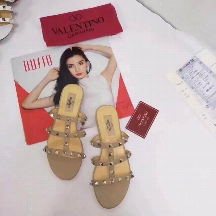 women shoes Studded Sandal Slippers           Rockstud Flats  14