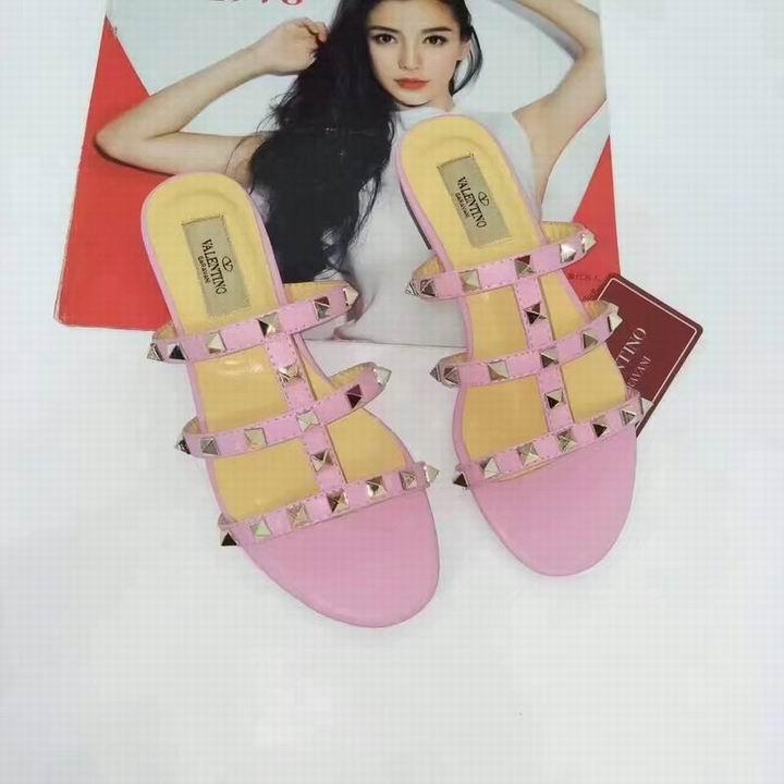 women shoes Studded Sandal Slippers           Rockstud Flats  15