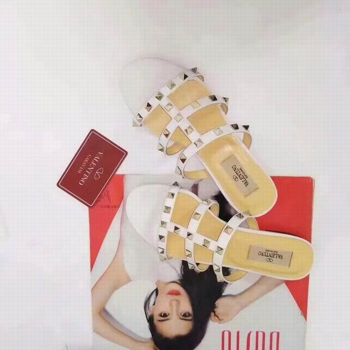 women shoes Studded Sandal Slippers           Rockstud Flats  17