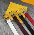 Fendi BelFendi  Brass Buckle women belts