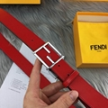 Fendi belt man cow real leather High-grade meta double F straps