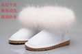 2019 hi quality ugg shoes  women fur boots white boots ugg snow boot