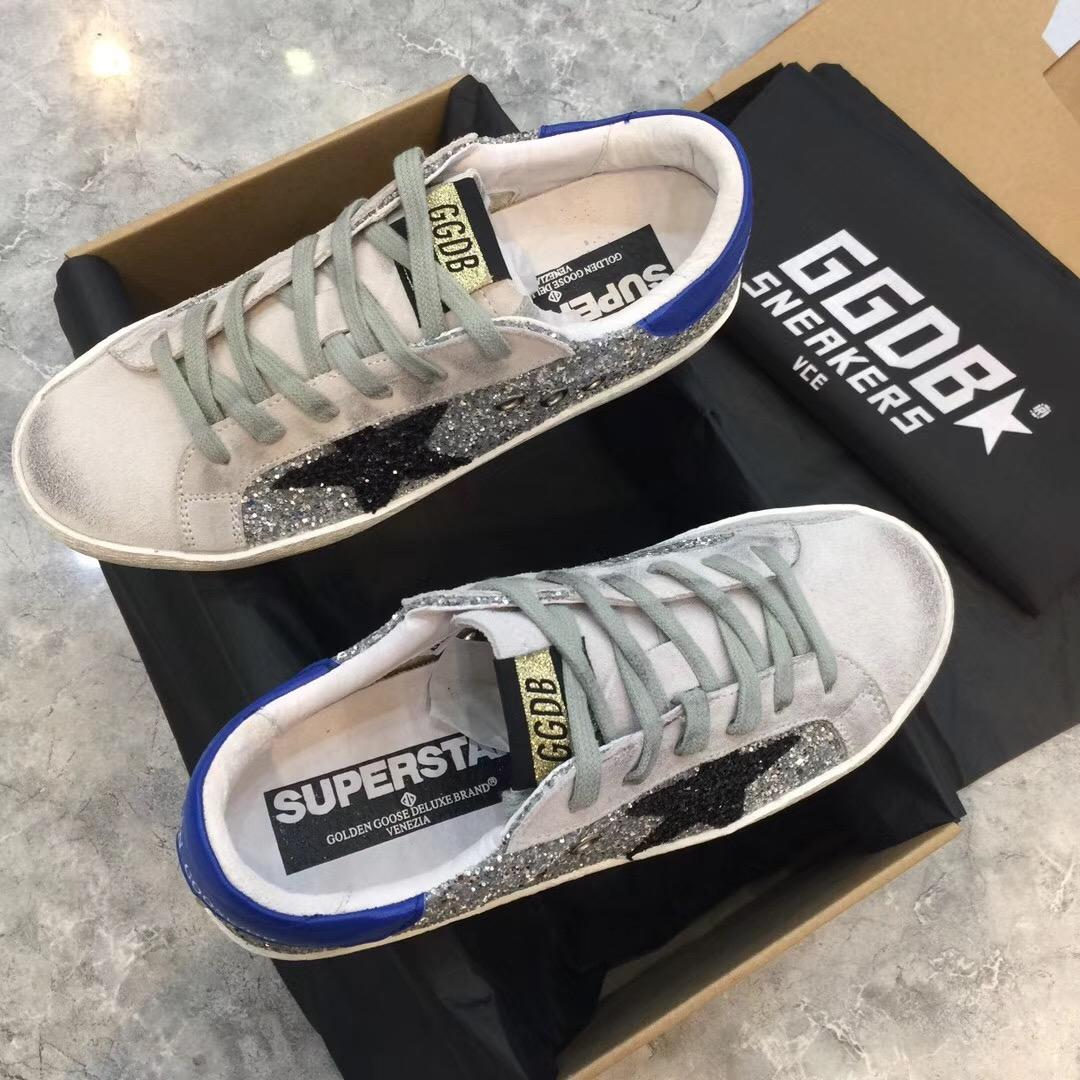 GOLDEN GOOSE DELUXE BRAND Super Star leather and suede sneakers
