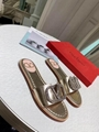 gold Valentino Female slippers women shoes