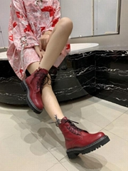 newest style women boots ps leather boots lacing ankles