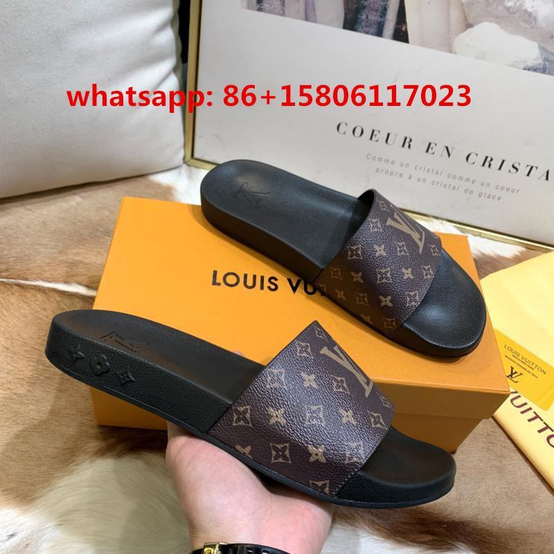 LV slippers lady flat mules flip flop monogram sls LV sandals fashion LV shoes footwear monogram lv slides