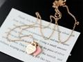 Tiffany double pink heart tiffany necklace heart pendants tiffany jewelry