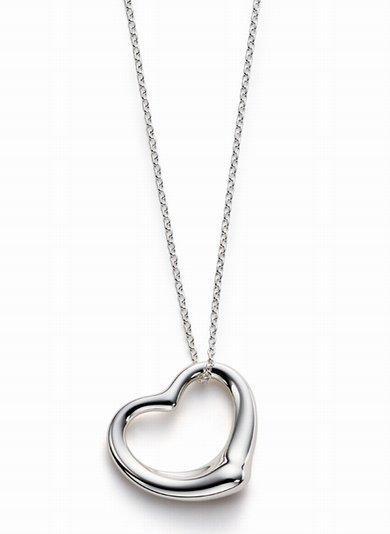 Tiffany hear necklace silver heart jewelry