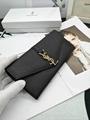 YSL saint laurent envelope chain wallet in grain De poudre embossed  wallets