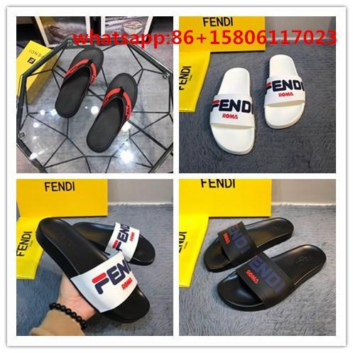 fendi slides flip flops fendi slippers Open-toe sandal calfskin leather slipper