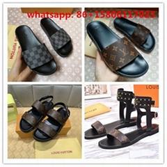 Hot sale LV mens sandals LV  loafers Louis Vuitton Man flip flops