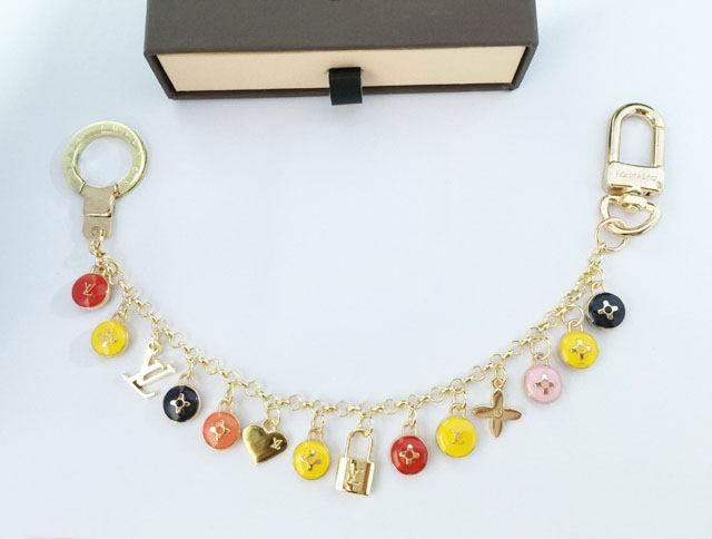 LV monogram key chain key holder hearts