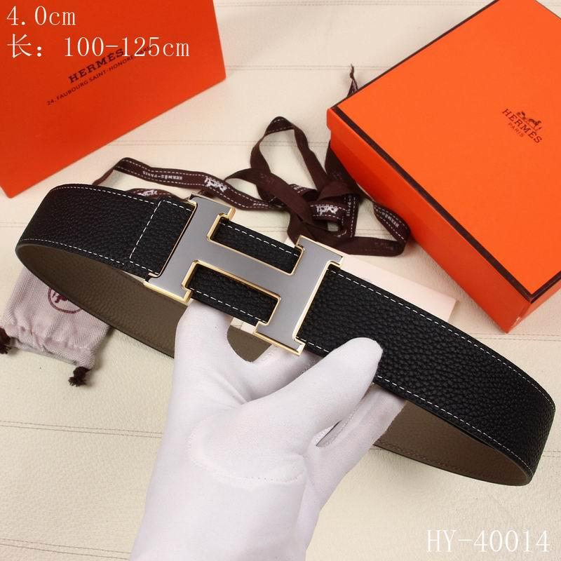 smooth leather gold H buckle belt  waist hermes belts