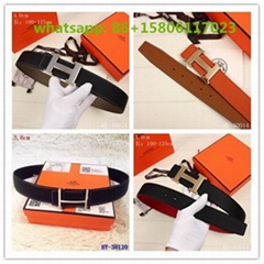 hermes belt smooth crocodile leather plated metal classic H buckle belts