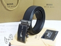 hugo boss belts boss leather  straps silber buckle men belt with original box