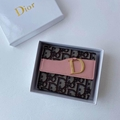 new Christian Dior Card Slots  Leather Wallet Clutch Dior purse
