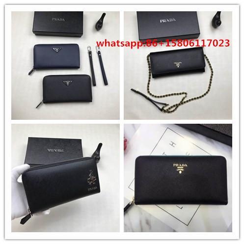 prada wallet  pebbled calf leather wallet