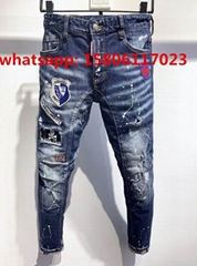 DSQ men pants Dsquared jeans casual trousers fashion diesel pant  DSQ men jeans