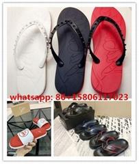 christian louboutin mens sandals  Man flip flops CL slippers