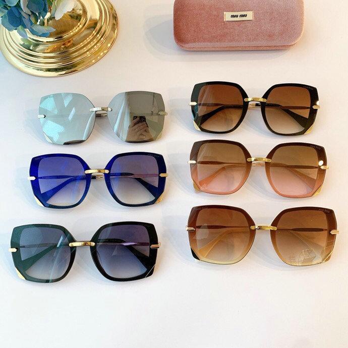 Women MIU MIU CLOUD FRAMES Metal frame sunglasses new in box
