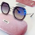 miu miu mirror gold metal frame sunglasses design eyewears