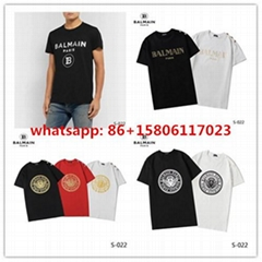 BALMAIN Short T-shirt tees sports t shirt BALMAIN men t shirt