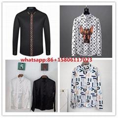LV shirts men long slee