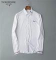 thom browne shirts slim fit dress shirt trimmed cotton oxford shirt men shirts 2