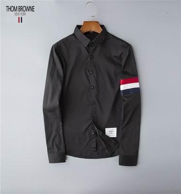 thom browne shirts slim fit dress shirt trimmed cotton oxford shirt men shirts 8