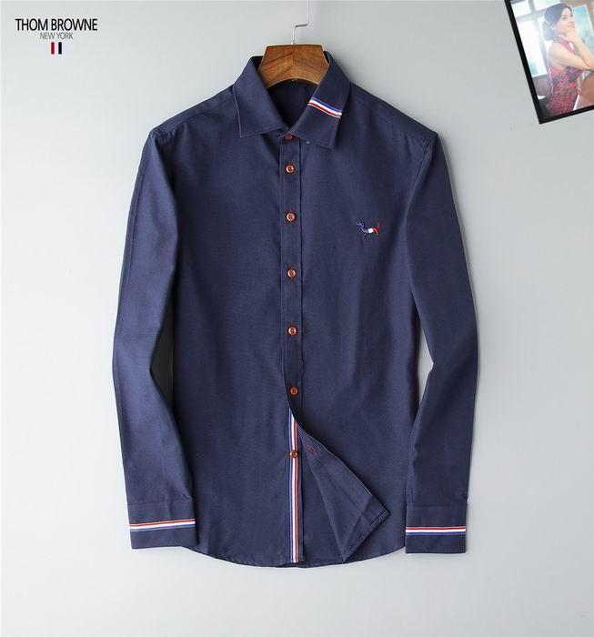 thom browne shirts slim fit dress shirt trimmed cotton oxford shirt men shirts 11