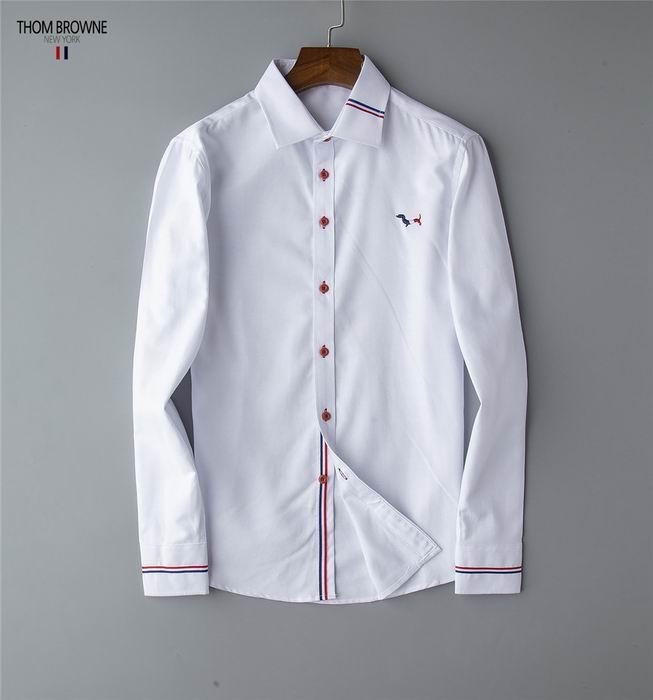 thom browne shirts slim fit dress shirt trimmed cotton oxford shirt men shirts 16