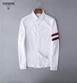 thom browne shirts slim fit dress shirt trimmed cotton oxford shirt men shirts 18