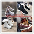 high -top sneakers white  black dior oblique canvas shoes women sneaker