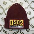 DSQ cotton cap-chong Dsq icon hats Knitted hat Beanie wool winter Cap 2