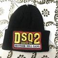 DSQ cotton cap-chong Dsq icon hats Knitted hat Beanie wool winter Cap 4