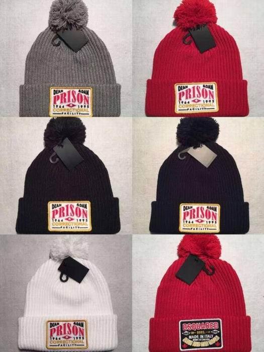 DSQ cotton cap-chong Dsq icon hats Knitted hat Beanie wool winter Cap 6